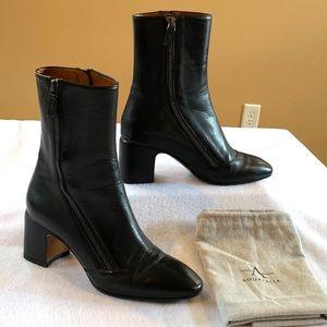 Aquatalia Black Leather Booties. Size 6 1/2.